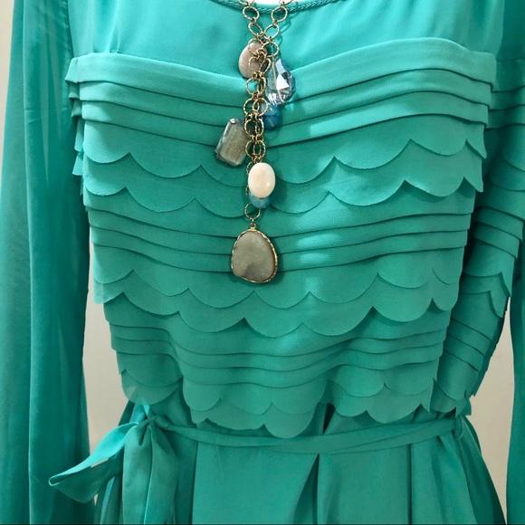 Max Studio Dresses & Skirts - A Flowing Dress of Seafoam Green & Dainty Beauty